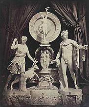 Hippolyte BAYARD (1801-1887). Composition aux sculptures : Diane et l'Apollon du
