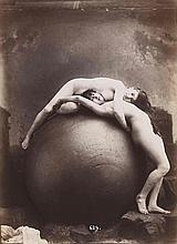 Gaudenzio MARCONI (1841-1885). Nus, dont nus à la mappemonde. 1875. 4 épreuves d
