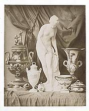 Louis-Rémy ROBERT (1811-1882). Composition avec statuette et vases de Sèvres. 18