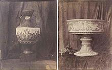 Louis-Rémy ROBERT (1811-1882). Vases de Sèvres : vase étrusque de Naples , Coupe