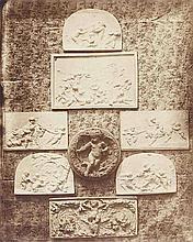 Hippolyte BAYARD (1801-1887). Composition aux bas-reliefs. 1855. Épreuve d'époqu