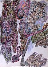 URSULA (1921-1999) Waldgespinst, 1958 Pastel monogrammé et daté en bas à droite,