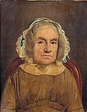 Charles CHAPLIN (Les Andelys, 1825 - Paris, 1891) Portrait de femme au bonnet as