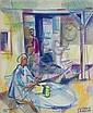 Jean CLUSEAU LANAUVE (1914-1997). Le petit déjeuner. Pastel. Signé en bas a droi, Jean Cluseau-Lanauve, Click for value