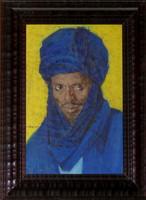 Lucien MADRASSI (1881-1956). Portrait d'un Targui. Pastel sur papier. Signé en
