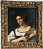 Ecole du XIXe d'après RAPHAEL Femme en buste  Huile sur toile. 69 x 53,5 cm