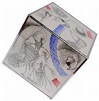 Jocelyne PACHE (1942) Compostions aux femmes et oiseaux. Six dessins à la mine d