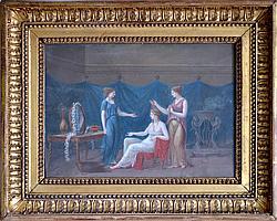 Joseph François BAUDELAIRE (1759-1827). La toilette de Flore. Gouache sur papier