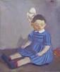 SMEKALOV Igor. Fillette au ruban. Huile sur toile. 50x40 cm