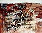 Jean-Claude BEDARD (1928-1987). Paysage n°3, 1958. Huile sur toile signée et datée 8. 58 en bas à droite, désignée au dos.  65 x 81 cm