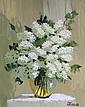 Pavlov - Lilas blancs - 24x19 - Huile sur toile.