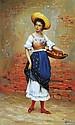 Dzuba Elena - Chapeau et mandarines - 50x30 - Huile sur toile.