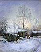 Poussovsky Vladimir - Gelée matinale - 30x24 - Huile sur carton.