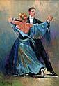 Fomine Vladimir - Sur-un-air-de-tango - 70x50 - Huile sur toile.
