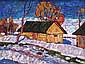 Bakhvalov Stanislav - La fonte des neiges - 35x45 - Huile sur toile.