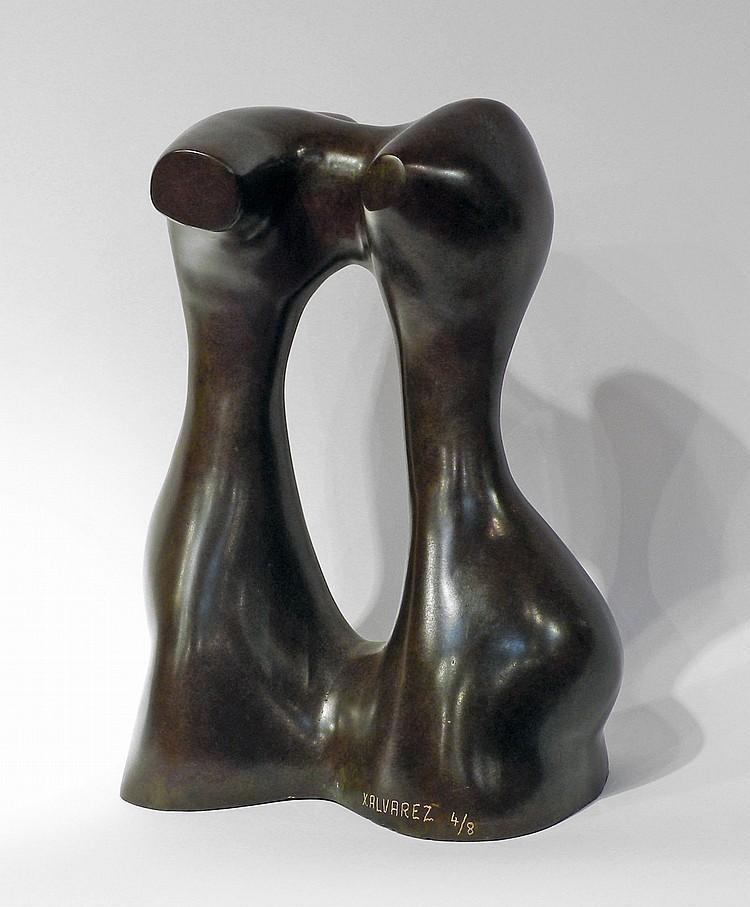Xavier ALVAREZ. Liaison. Epreuve en bronze à patine brune, numérotée 4/8