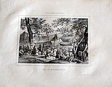 Victor ADAM (1801-1866) Fêtes des environs de Paris. Treize lithographies en noi