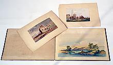 Jules NOEL (1815-1881) Souvenirs de Bretagne, 1851.  Album  de 25 lithographies