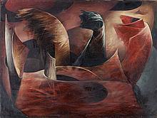 Henri GOETZ (1909-1989). Goûts frivoles, 1946. Huile sur panneau signé et daté e