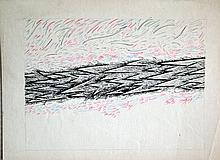 Carl BUCHHEISTER (1890-1964) Composition Che, 1950 Crayons de couleurs et encre