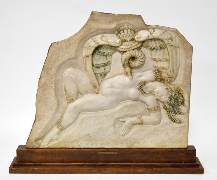 Aldo BARTELLETTI (1898-1976)-Horace DAILLION (1854-c.1940) Prométhée et l'aigle.