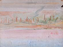 Carl BUCHHEISTER (1890-1964) Composition, n° 281, 1952 Aquarelle double face si
