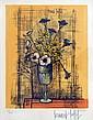 Bernard BUFFET. Bouquet de fleurs. Lithographie en couleurs, signée dans la plan