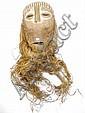 RDC.   LEGA.   Important masque de bois de l'Est du Congo (Grands lacs/Maniema) avec