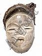 GABON.   VUVI/Tsogho (?).   Beau et ancien masque polychrome de danse avec une parti