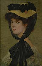 Jean Raoul CHAURAND-NAURAC (1878-1948), Portrait de femme au chapeau et foulard
