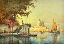 Eloi Noël  BERAUD (Eloi Noël BOUVARD (1875-1957) Gondolier sur le canal à Venise
