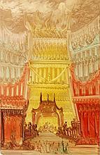 NÜSSLEIN, HEINRICH (1879-1947): Darstellung einer Fantasie-Architektur (Tempel), 20. Jh.,