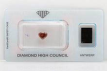 Loser Diamant im Herz-Schliff ca. 1,02ct, Fancy Orange,