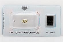 Loser Diamant im Oval-Schliff ca. 1,48ct, Fancy Olive Yellow, vs1,