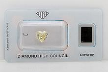 Loser Diamant im Herz-Schliff ca. 2,07ct, Fancy Yellow,