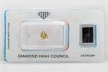 Loser Diamant-Tropfen ca. 1,04ct, Fancy Olive Yellow,