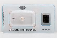 Loser Diamant im Herz-Schliff ca. 0,62ct, Fancy Light Pink Brown,