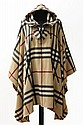BURBERRY LONDON fine poncho, size ca.: 38, wool/cashmere blend.