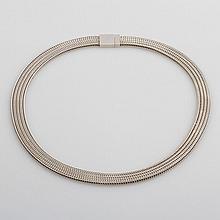 Modernes Collier, 925 Silber.