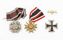 Konvolut 4 Teile: Dienstauszeichnung NSDAP
