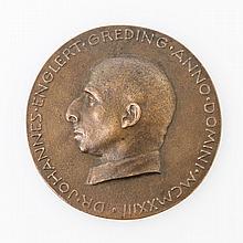 Große seltene Bronzegussmedaille 1923 wohl des Münchner Medailleurs