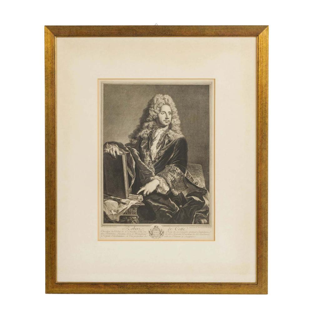 """DREVET, PIERRE (1663-1738), """"Robert de Cotte"""","""