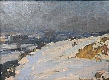 SCHMIDT, ALFRED (1867 - 1956): Winterlandschaft.
