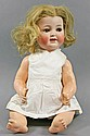 Porcelain head doll, beginning of 20th century,