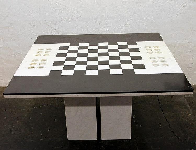 sissa schachspieltisch designer renato polidori 1934 en. Black Bedroom Furniture Sets. Home Design Ideas
