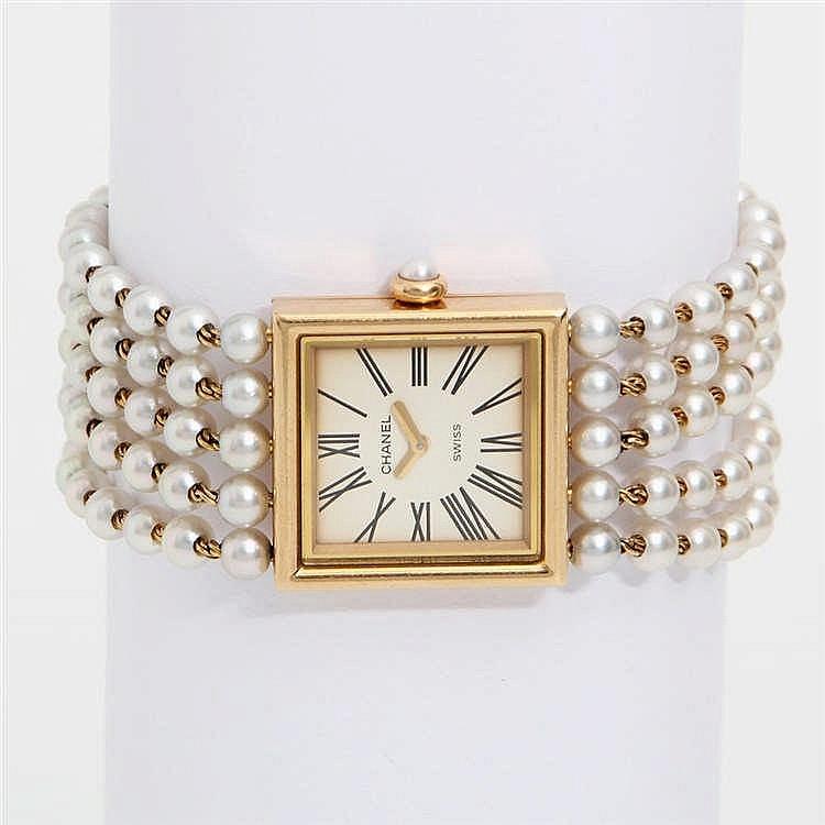 CHANEL VINTAGE elegante Armbanduhr