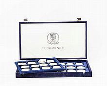 Box mit 37 SILBERmünzen der Thematik