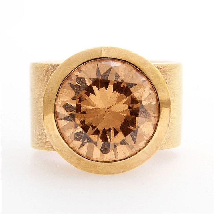 ring mit gro em stein cognacfarben rund fac d 16mm. Black Bedroom Furniture Sets. Home Design Ideas