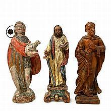 Konvolut: 3 stehende Heilige, 19./20. Jh.