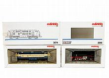 MÄRKLIN Diesellok 3074 und Tenderlok 3095, Spur H0,